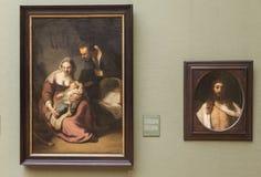 Pitture di Rembrandt al Alte Pinakothek - Monaco di Baviera, Germania Fotografia Stock