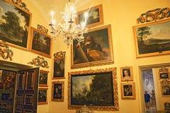 Pitture di rinascita nel palazzo Isola Bella Italy di Borromeo fotografie stock