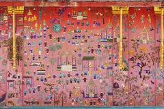 Pitture di vetro asiatiche del mosaico fotografia stock