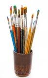 Pitture e spazzole Immagini Stock Libere da Diritti