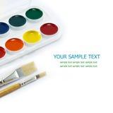 Pitture e spazzole Immagini Stock