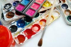 Pitture e spazzole Fotografia Stock Libera da Diritti