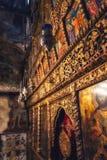 Pitture ed affreschi dentro la chiesa della st Naum sul lago Ocrida, macis Fotografia Stock Libera da Diritti