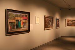 Pitture emozionali riguardo a WWII che appende sulle pareti nella sala di Art Gallery commemorativo, Rochester, New York, 2017 Fotografie Stock