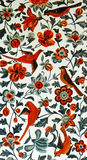 Pitture murale iraniane degli uccelli e dei fiori fotografia stock