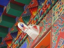 """Pitture murale sulla parete del tempio di tum """"er in Xining, Cina fotografia stock libera da diritti"""