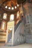 Pitture, ornamenti e scale in Aya Sophia Immagine Stock