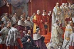 Pitture in Raphael Rooms Il Vaticano, Italia Fotografie Stock Libere da Diritti