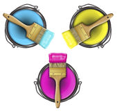 Pitture RGB Immagine Stock