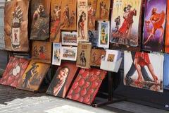 Pitture in San Telmo Immagine Stock