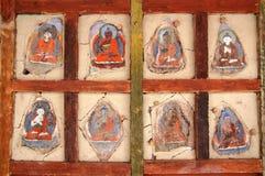 Pitture sbiadette del buddista di Ladkahi Immagini Stock Libere da Diritti