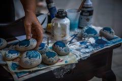 Pitture sulle pietre in Zacinto, Grecia Immagine Stock Libera da Diritti