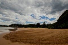Pittwater, playa 2017 del valle de Mona de la salida del sol del verano de la serie de la playa Imagenes de archivo