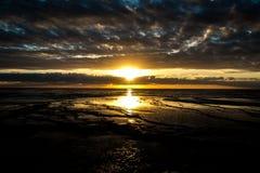 Pittwater, salida del sol 2017 del verano de la serie de la playa Fotos de archivo libres de regalías