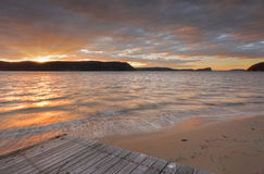 Pittwater sunset Stock Photos