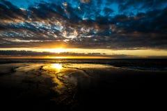 Pittwater, valle 2017 de Mona de la salida del sol del verano de la serie de la playa Fotos de archivo