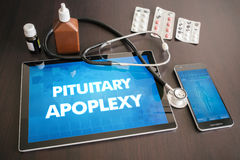 Pituitary apoplexy (endocrine disease) diagnosis medical concept Royalty Free Stock Images