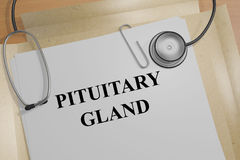 Pituitary Gland - medical concept Royalty Free Stock Photography
