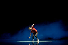 Pity oneself at the sight of one's shadow-Modern dance Stock Photo