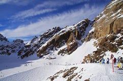 Pitztal冰川,奥地利 免版税库存图片