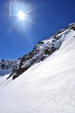 Pitztal冰川,奥地利 免版税库存照片