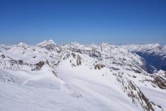 Pitztal冰川,奥地利 图库摄影