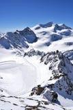 Pitztal冰川,奥地利 库存图片