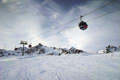 Pitztal, Otztaler Alpen,提洛尔,奥地利 库存照片