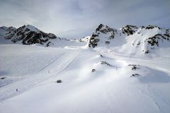Pitztal, Otztaler Alpen,提洛尔,奥地利 免版税库存图片