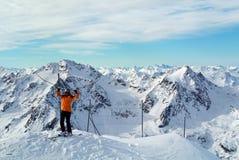 Pitztal, Bovenkant van Tirol, Oostenrijk Stock Foto's