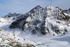 Pitztal, cima del Tirolo, Austria Fotografia Stock