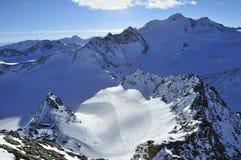 Pitztal Glacier. View from Hinterer Brunnenkogel on Pitztal glacier in Austrian alps Stock Images