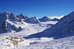 Pitztal glacier, Austria Stock Photos