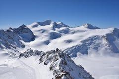 Pitztal glaciär, Österrike Arkivfoton