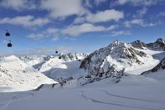 Pitztal ośrodek narciarski zdjęcia stock