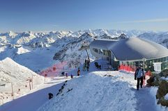 Pitztal Ski Resort Stock Images