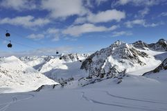 Pitztal Ski Resort Stock Photos