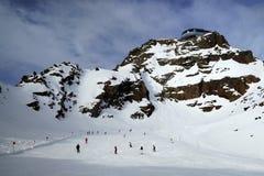 Pitztaler Gletscher, Otztaler Alpen, Tirol, Австрия Стоковые Изображения
