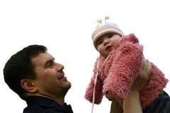 Piuma e figlia Fotografia Stock