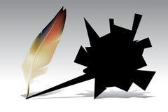 Piuma, spoletta illustrazione vettoriale