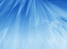 Piume blu di incandescenza Fotografie Stock