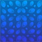 Piume del pavone su fondo blu Illustrazione di vettore Fotografia Stock Libera da Diritti
