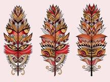 Piume di colore Illustrazione di vettore Immagini Stock