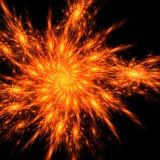 Piume di Phoenix del fuoco Immagini Stock