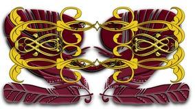 Piume e rotoli di immaginazione illustrazione vettoriale
