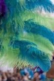 Piume variopinte del vestito di carnevale Fotografie Stock Libere da Diritti