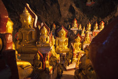 Piundaya Cave of Buddha images. Stock Images