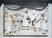 Pius IX som proklamerar dogmet av den obefläckade befruktningen Royaltyfria Bilder