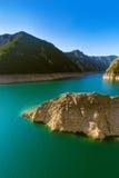 Piva峡谷-黑山 库存图片