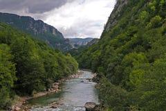 Piva flod Royaltyfri Fotografi